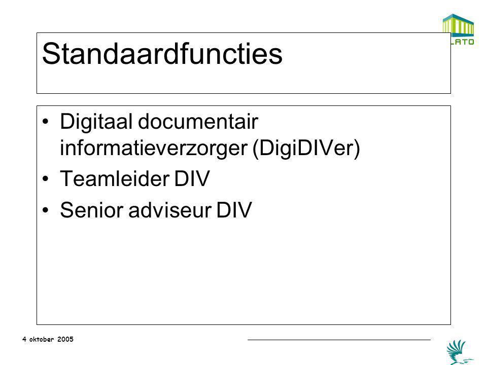 Standaardfuncties Digitaal documentair informatieverzorger (DigiDIVer)