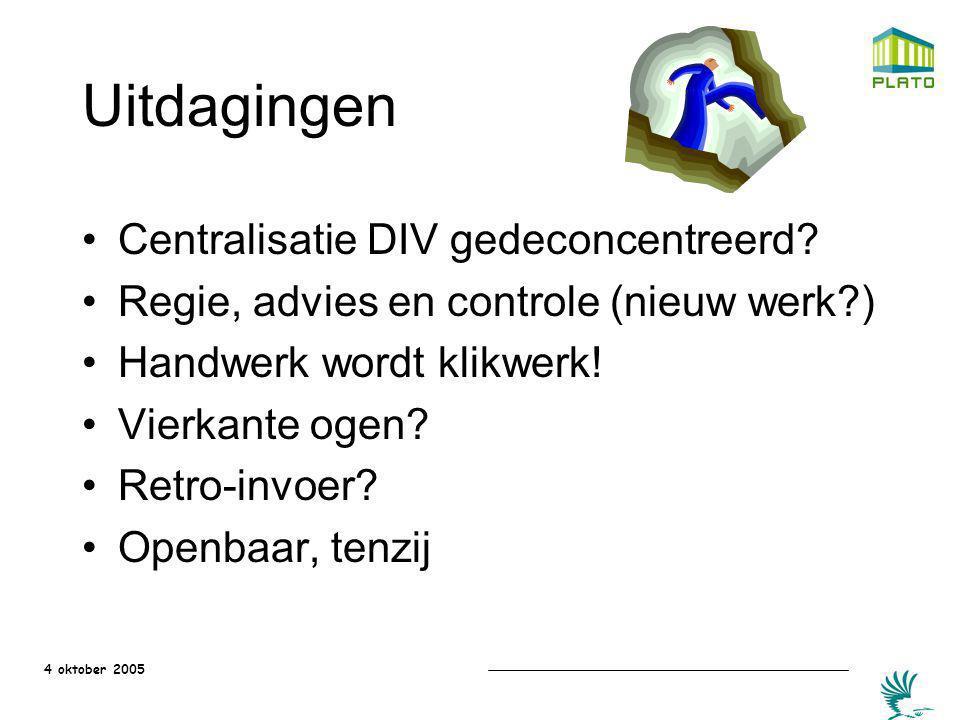Uitdagingen Centralisatie DIV gedeconcentreerd