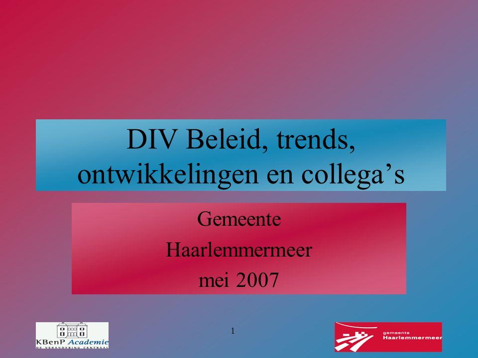 DIV Beleid, trends, ontwikkelingen en collega's