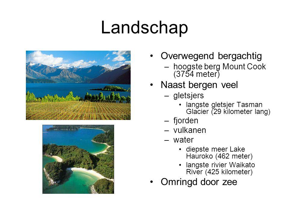 Landschap Overwegend bergachtig Naast bergen veel Omringd door zee