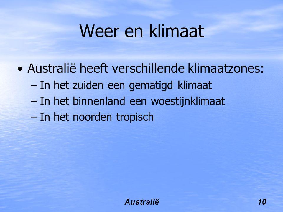Weer en klimaat Australië heeft verschillende klimaatzones: