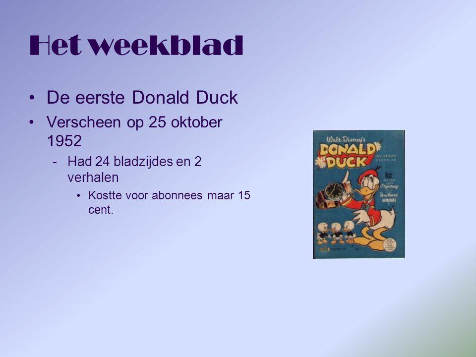 Het weekblad De eerste Donald Duck Verscheen op 25 oktober 1952