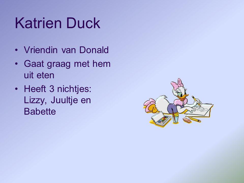 Katrien Duck Vriendin van Donald Gaat graag met hem uit eten