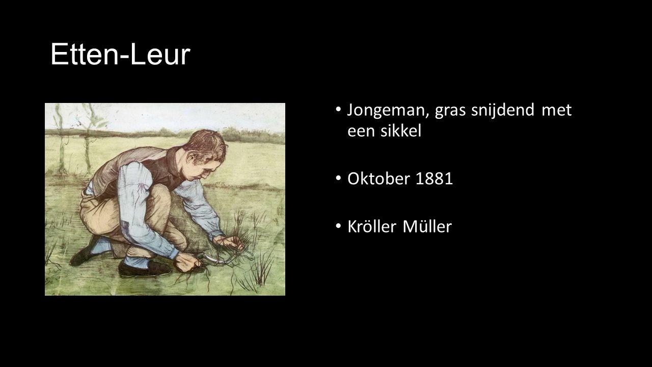 Etten-Leur Jongeman, gras snijdend met een sikkel Oktober 1881
