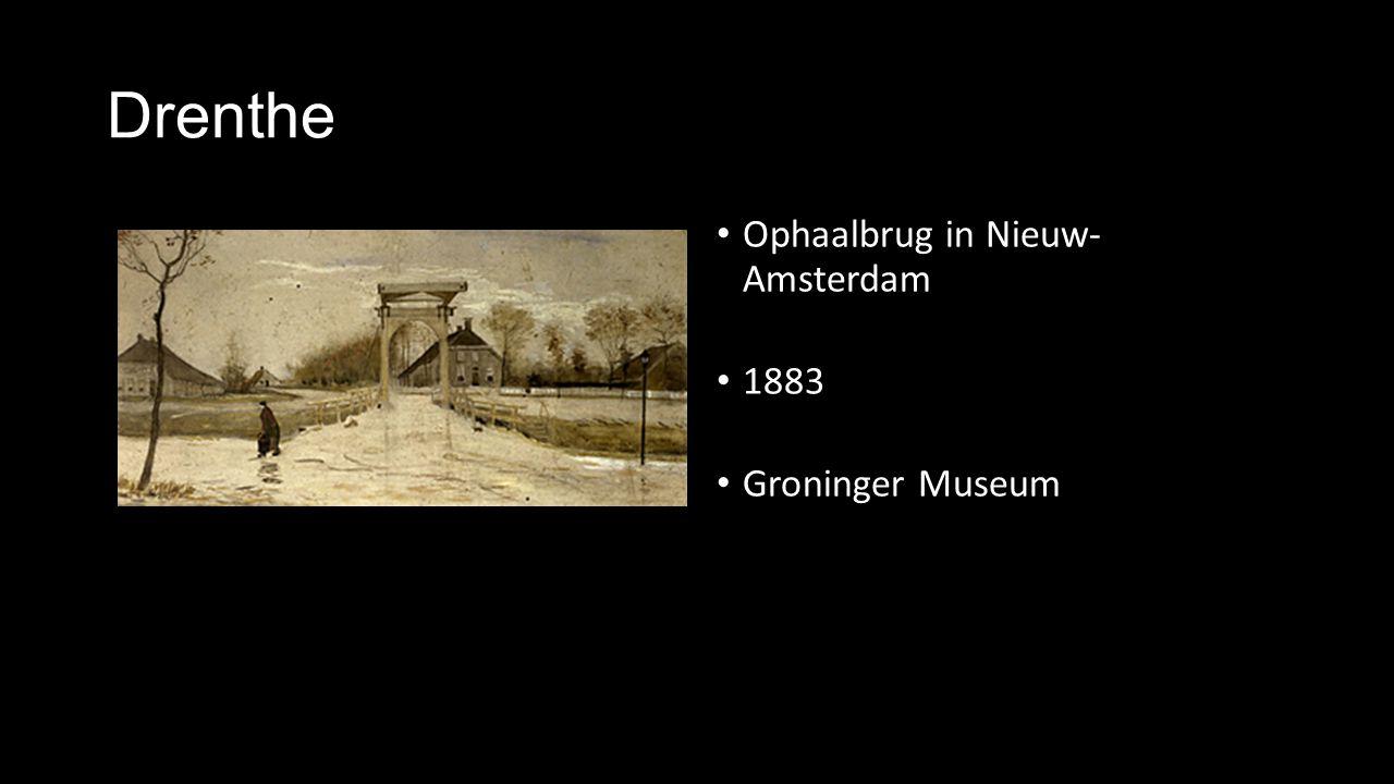 Drenthe Ophaalbrug in Nieuw- Amsterdam 1883 Groninger Museum