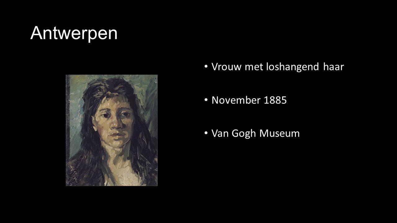 Antwerpen Vrouw met loshangend haar November 1885 Van Gogh Museum