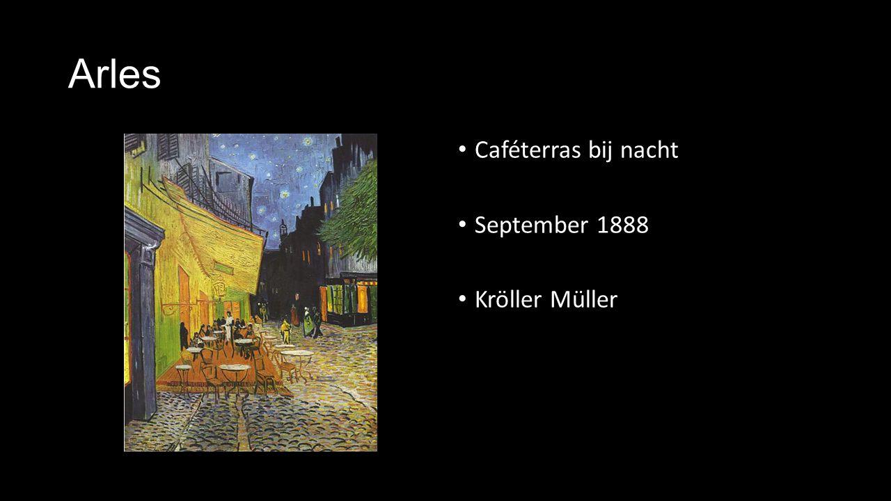 Arles Caféterras bij nacht September 1888 Kröller Müller