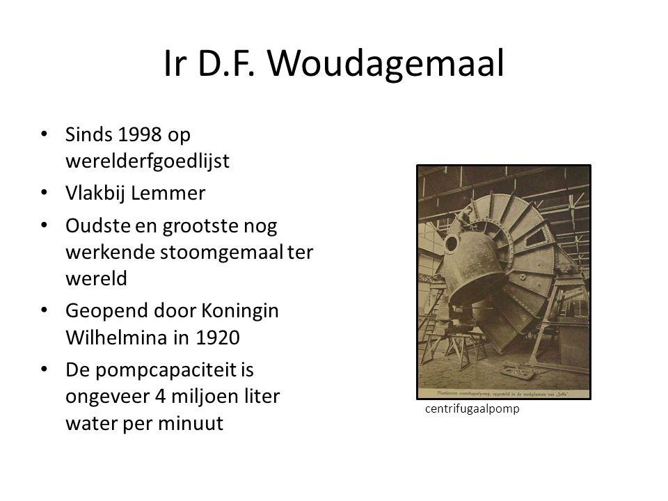 Ir D.F. Woudagemaal Sinds 1998 op werelderfgoedlijst Vlakbij Lemmer