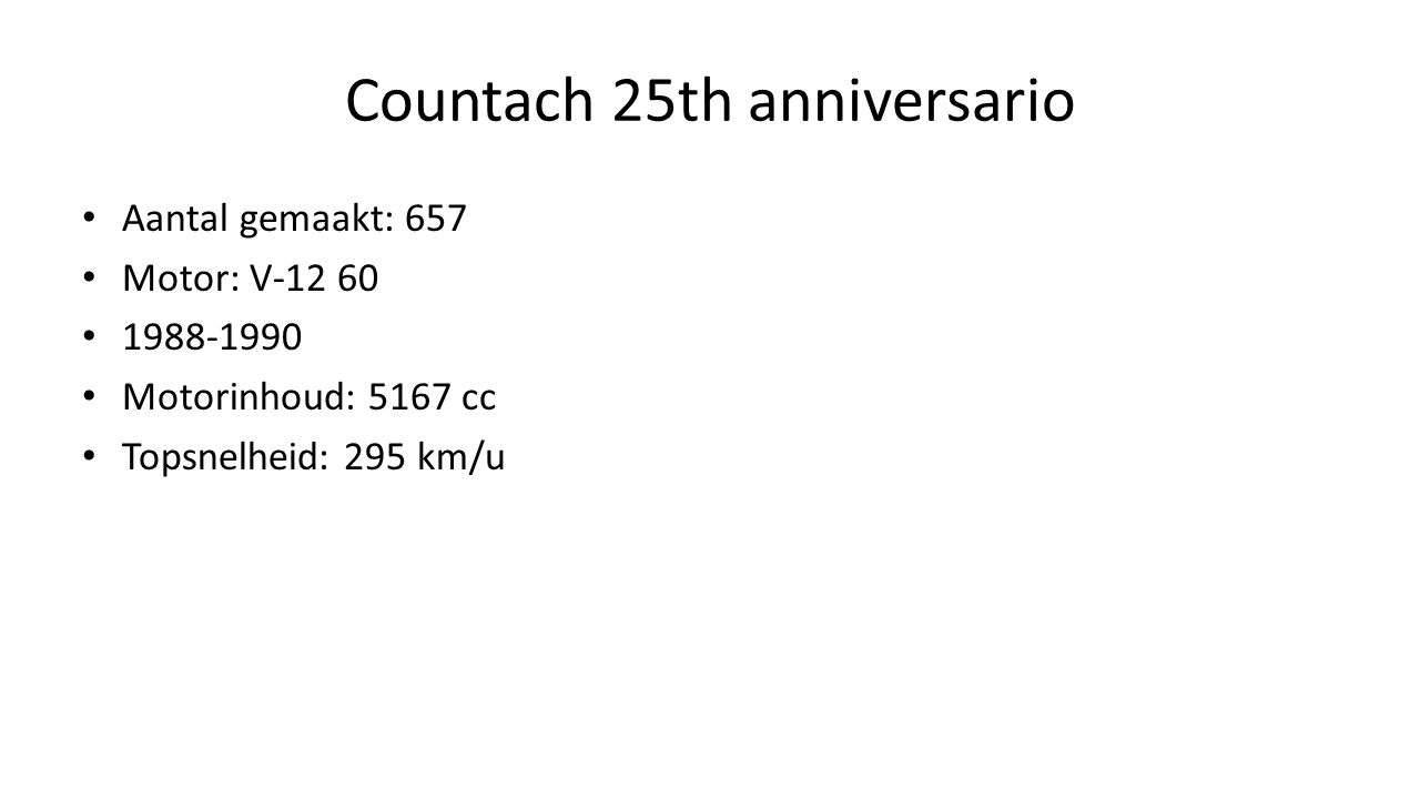 Countach 25th anniversario
