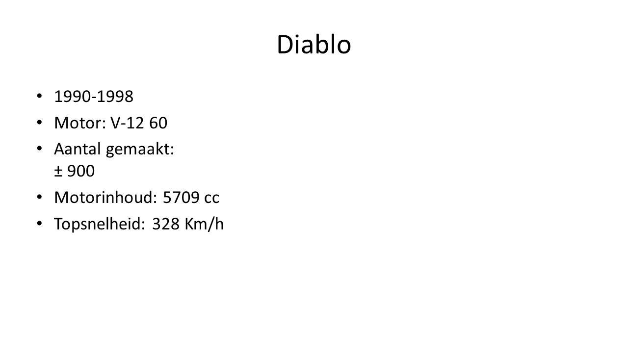 Diablo 1990-1998 Motor: V-12 60 Aantal gemaakt: ± 900