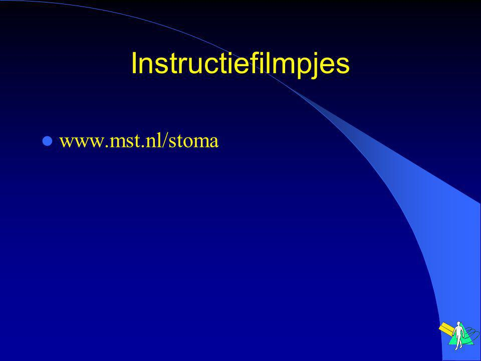 Instructiefilmpjes www.mst.nl/stoma