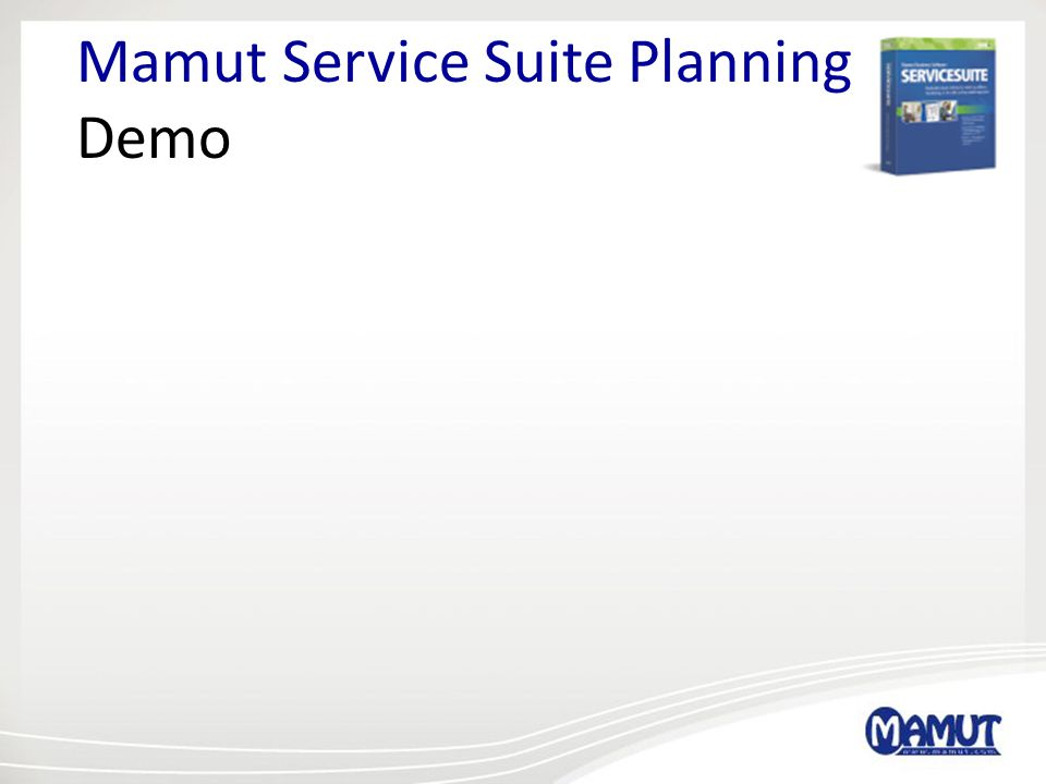 Mamut Service Suite Planning Demo