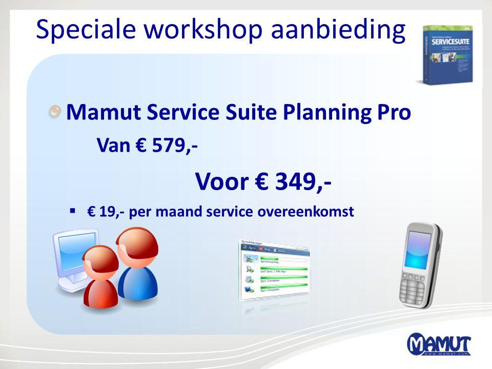Speciale workshop aanbieding