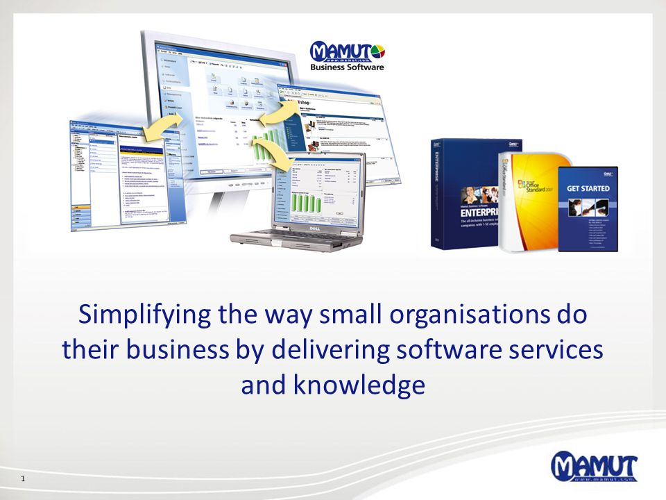 Simplifying the way small organisations do their business by delivering software services and knowledge