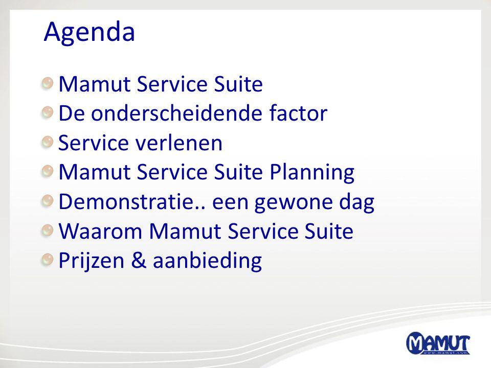 Agenda Mamut Service Suite De onderscheidende factor Service verlenen