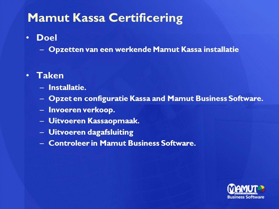 Mamut Kassa Certificering