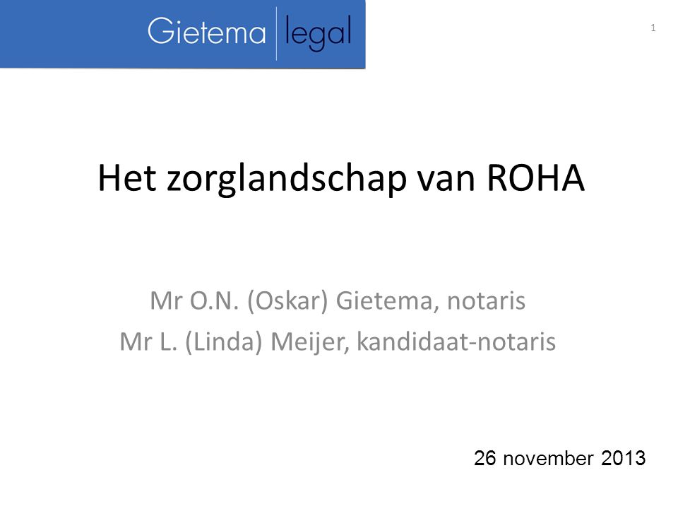 Het zorglandschap van ROHA