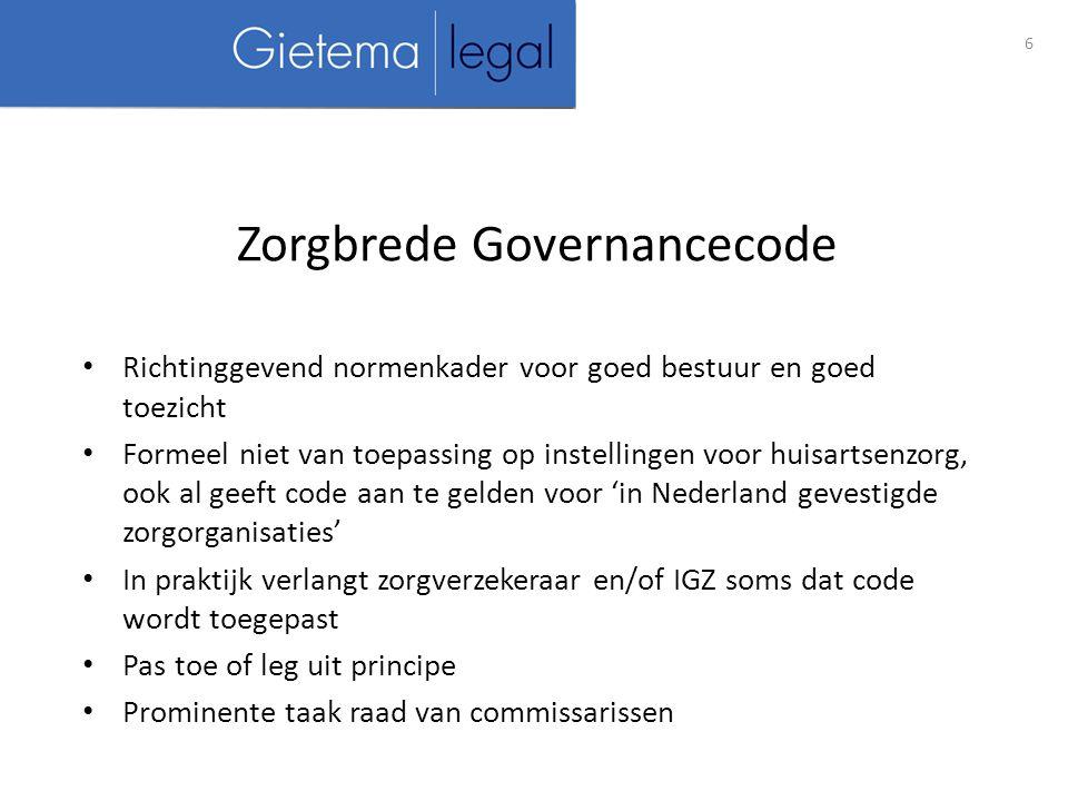Zorgbrede Governancecode