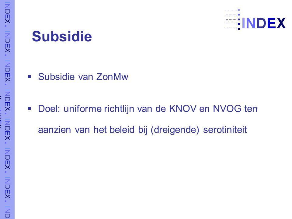 Subsidie Subsidie van ZonMw