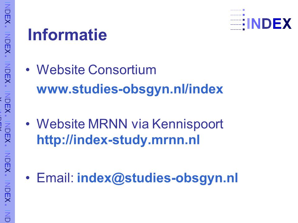 Informatie Website Consortium www.studies-obsgyn.nl/index