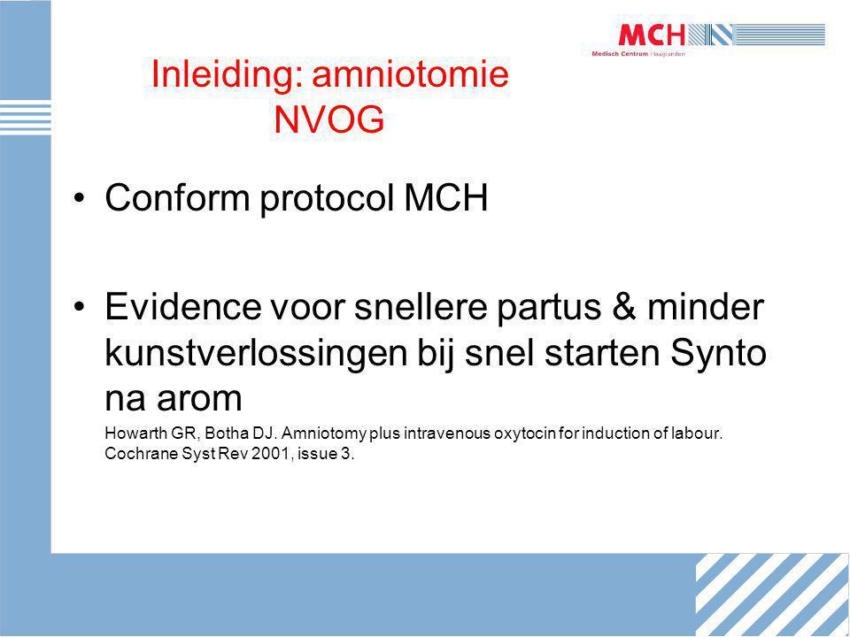 Inleiding: amniotomie NVOG