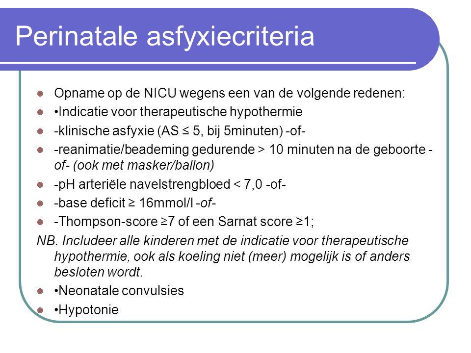 Perinatale asfyxiecriteria