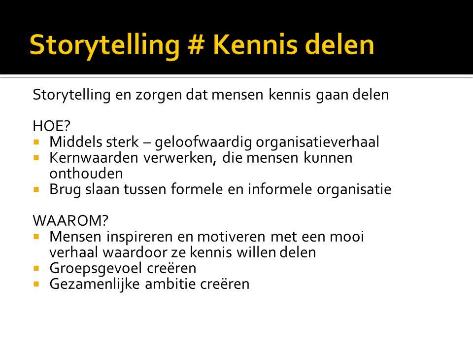 Storytelling # Kennis delen