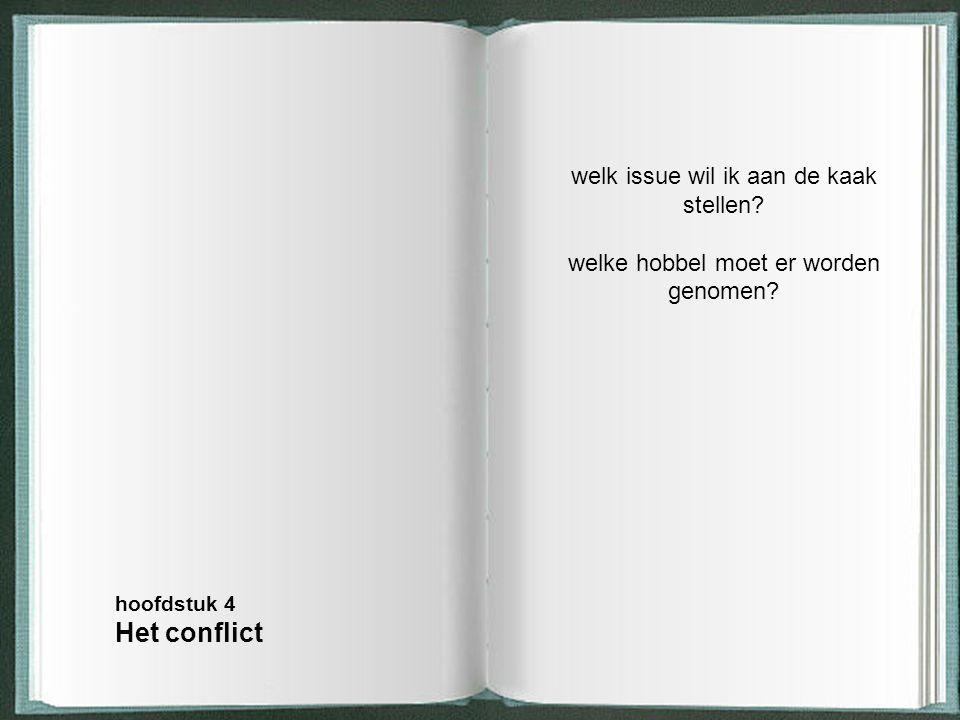Het conflict welk issue wil ik aan de kaak stellen