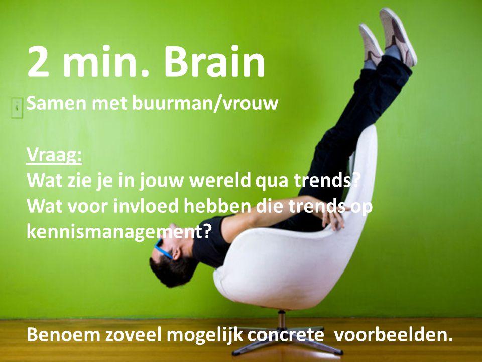 2 min. Brain Samen met buurman/vrouw Vraag: