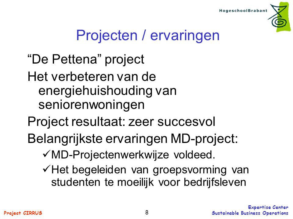 Projecten / ervaringen