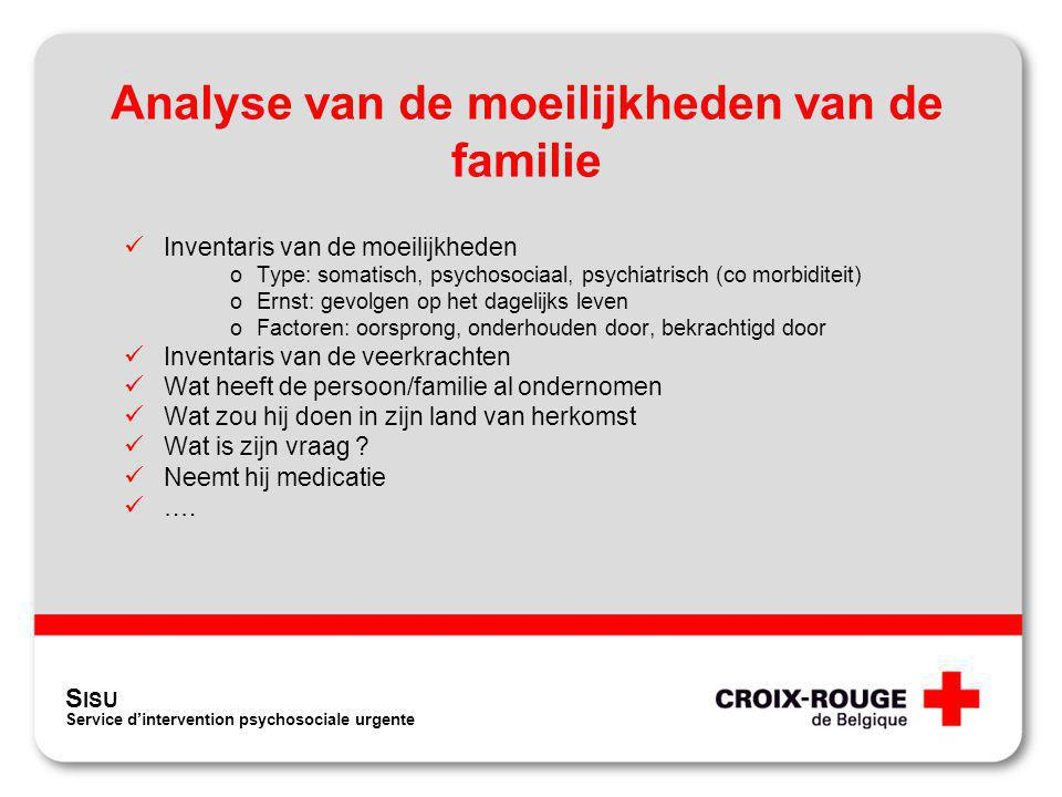 Analyse van de moeilijkheden van de familie