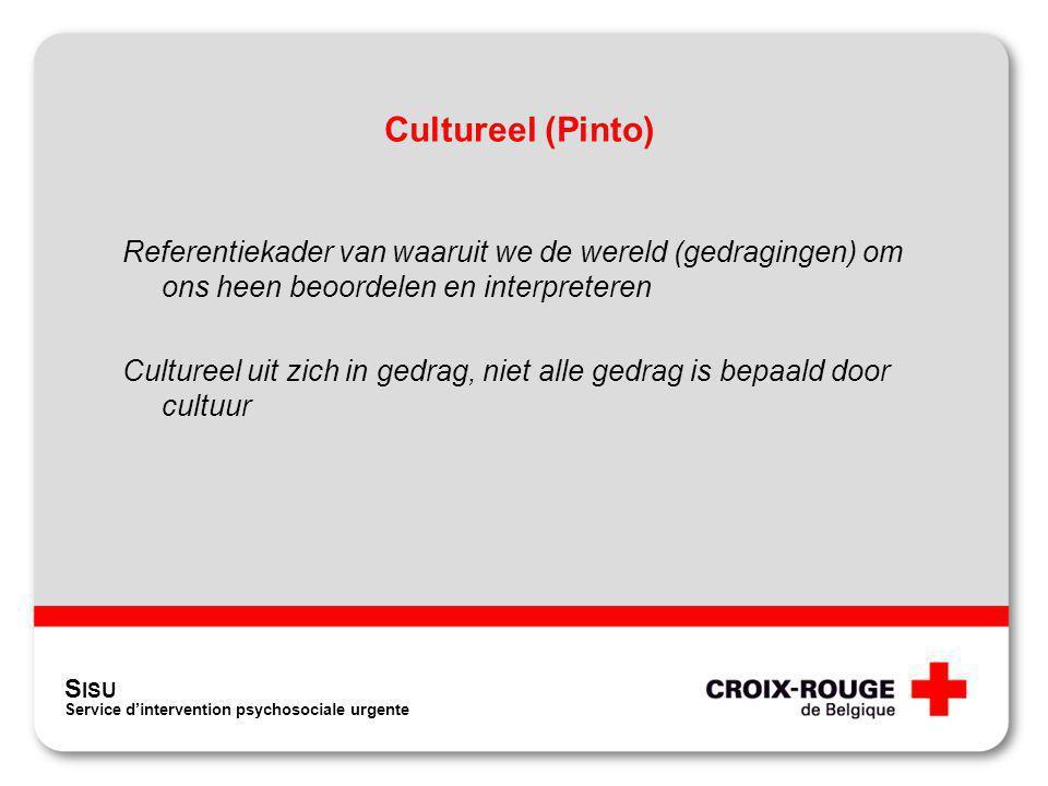 Cultureel (Pinto) Referentiekader van waaruit we de wereld (gedragingen) om ons heen beoordelen en interpreteren.