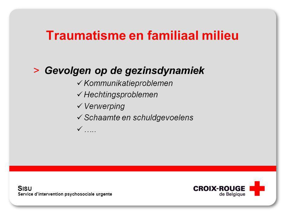 Traumatisme en familiaal milieu