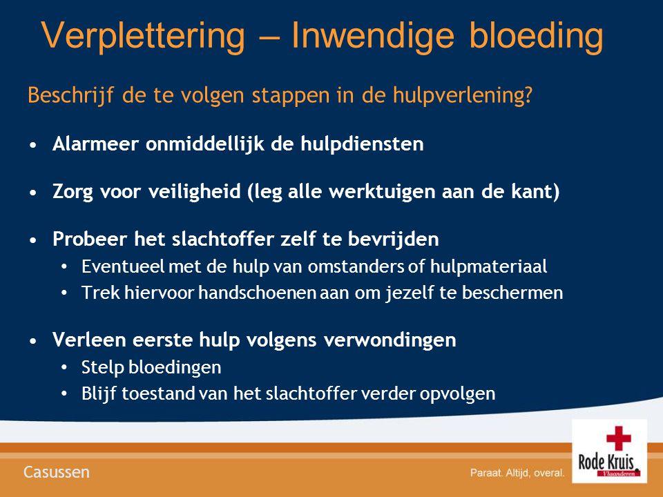 Verplettering – Inwendige bloeding