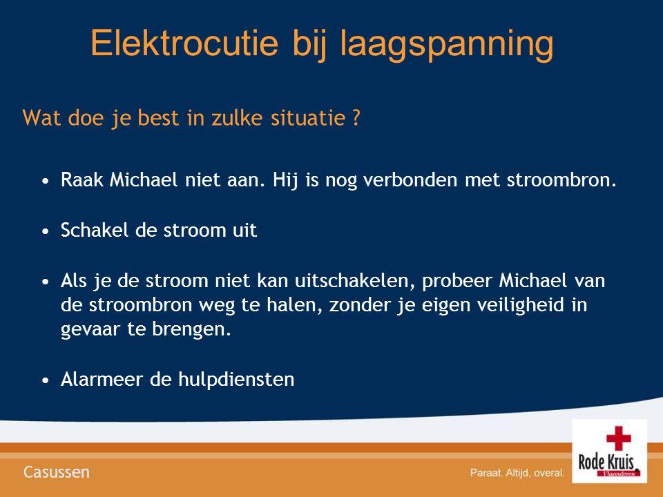 Elektrocutie bij laagspanning