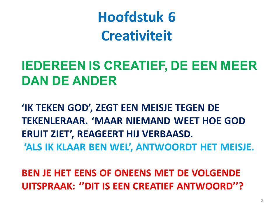 Hoofdstuk 6 Creativiteit