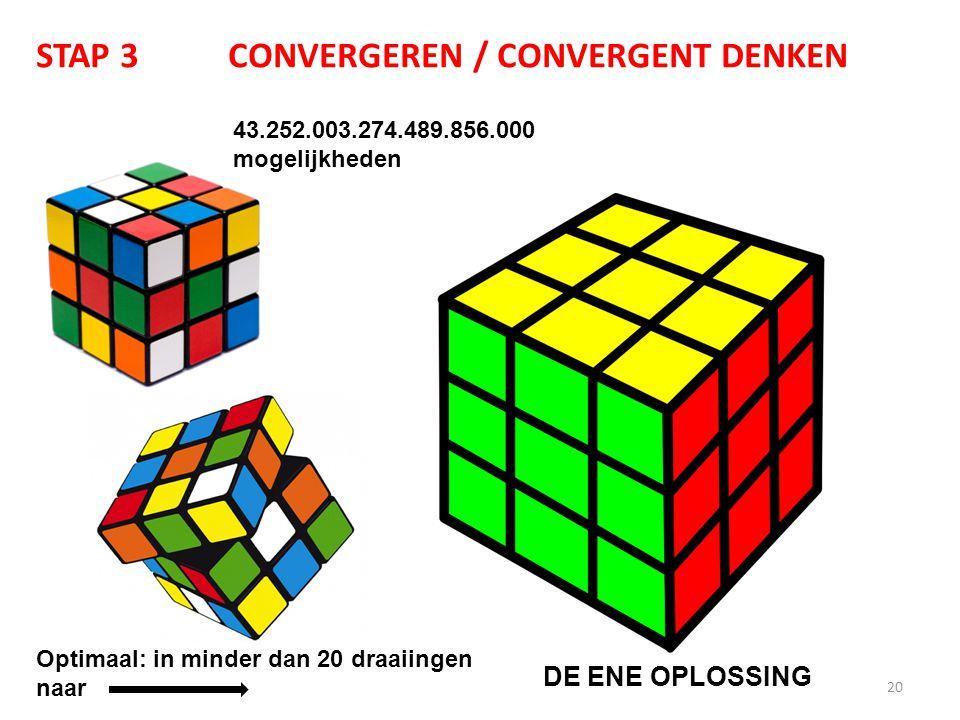 STAP 3 CONVERGEREN / CONVERGENT DENKEN