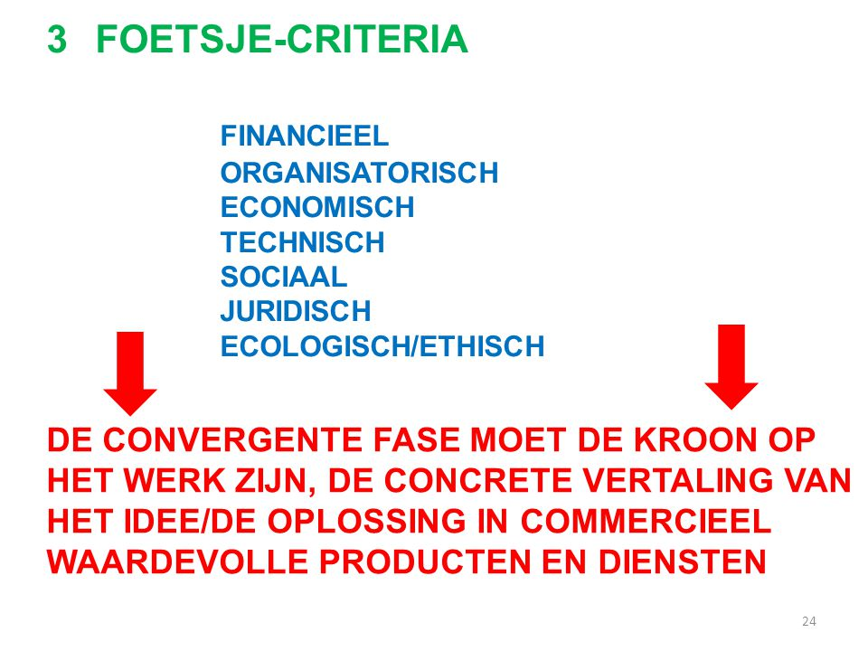 FOETSJE-CRITERIA FINANCIEEL