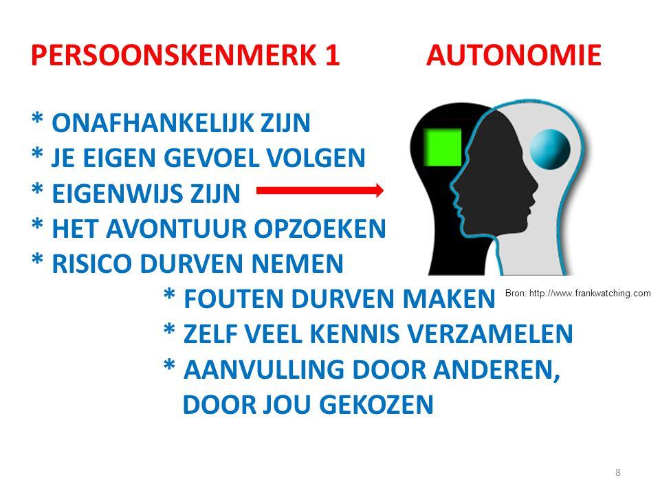 PERSOONSKENMERK 1 AUTONOMIE