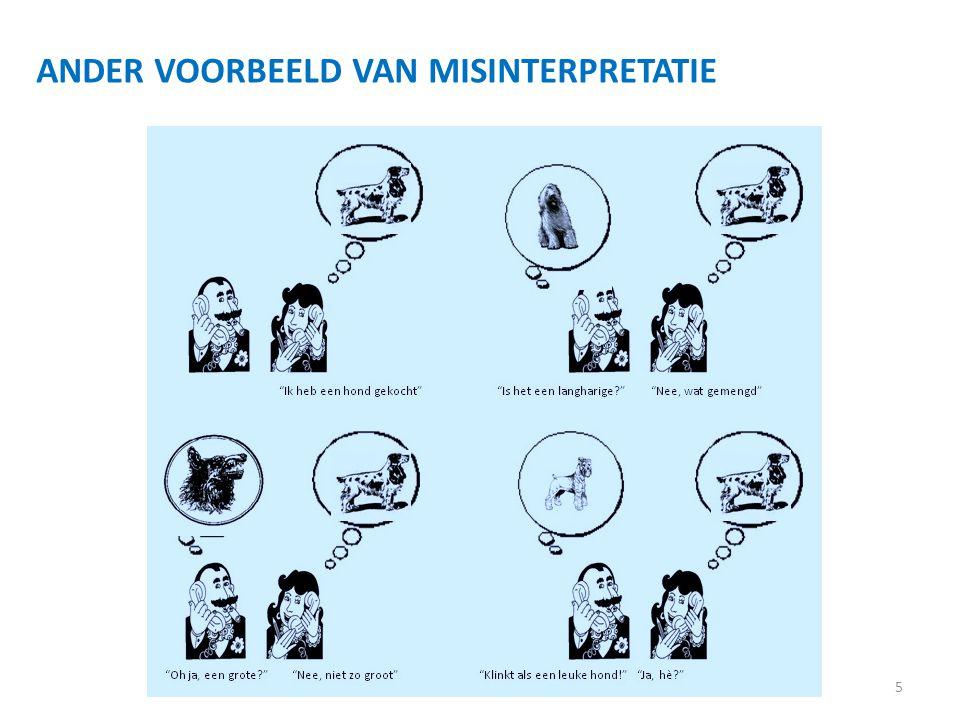 ANDER VOORBEELD VAN MISINTERPRETATIE