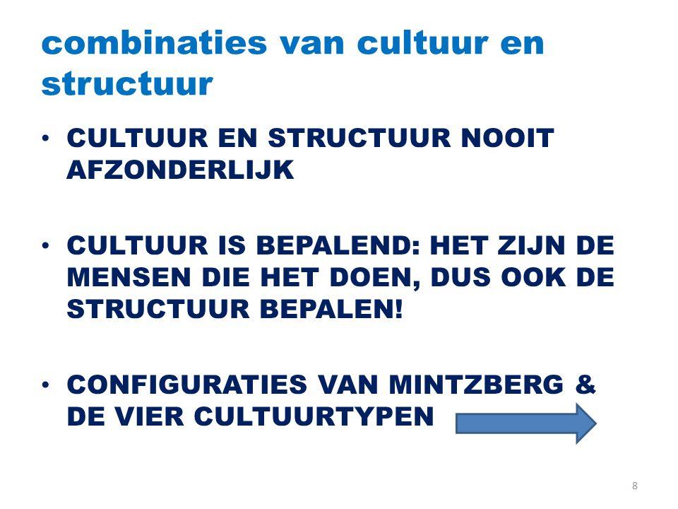 combinaties van cultuur en structuur