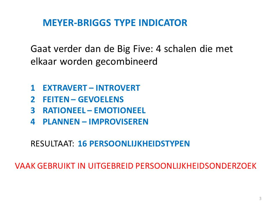 MEYER-BRIGGS TYPE INDICATOR