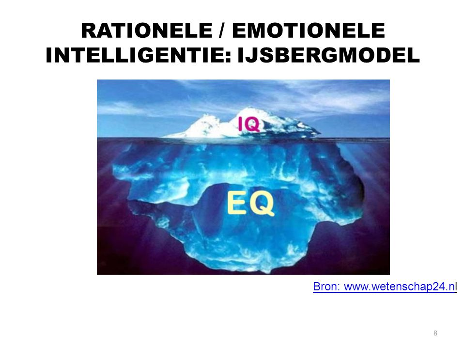RATIONELE / EMOTIONELE INTELLIGENTIE: IJSBERGMODEL