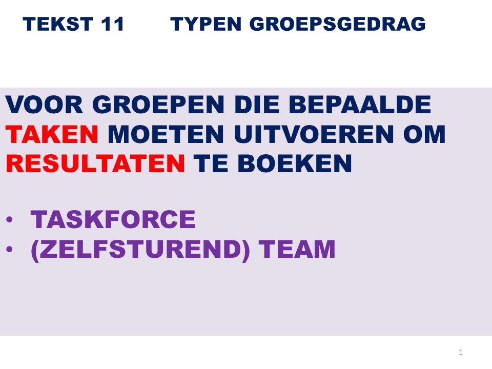 TEKST 11 TYPEN GROEPSGEDRAG