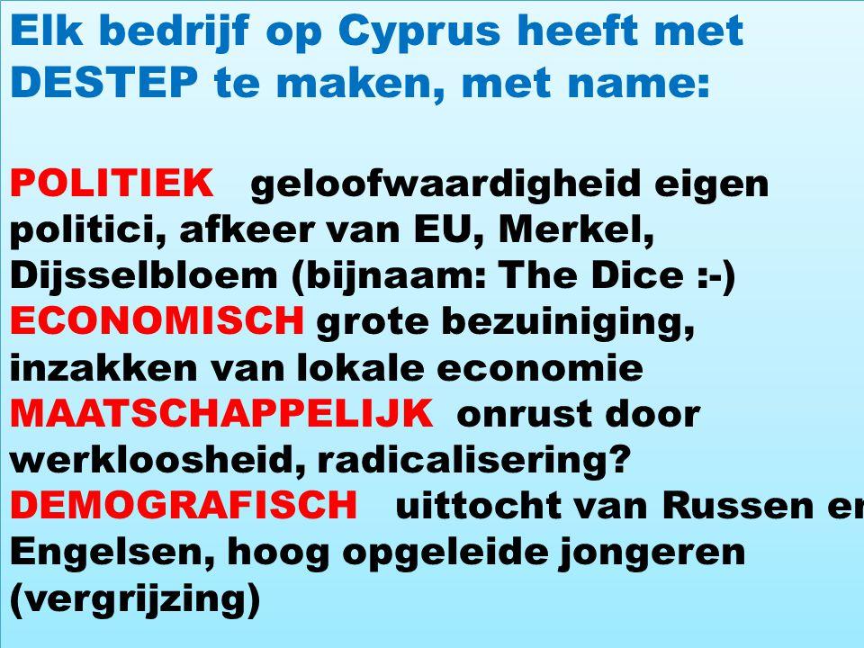 Elk bedrijf op Cyprus heeft met DESTEP te maken, met name: