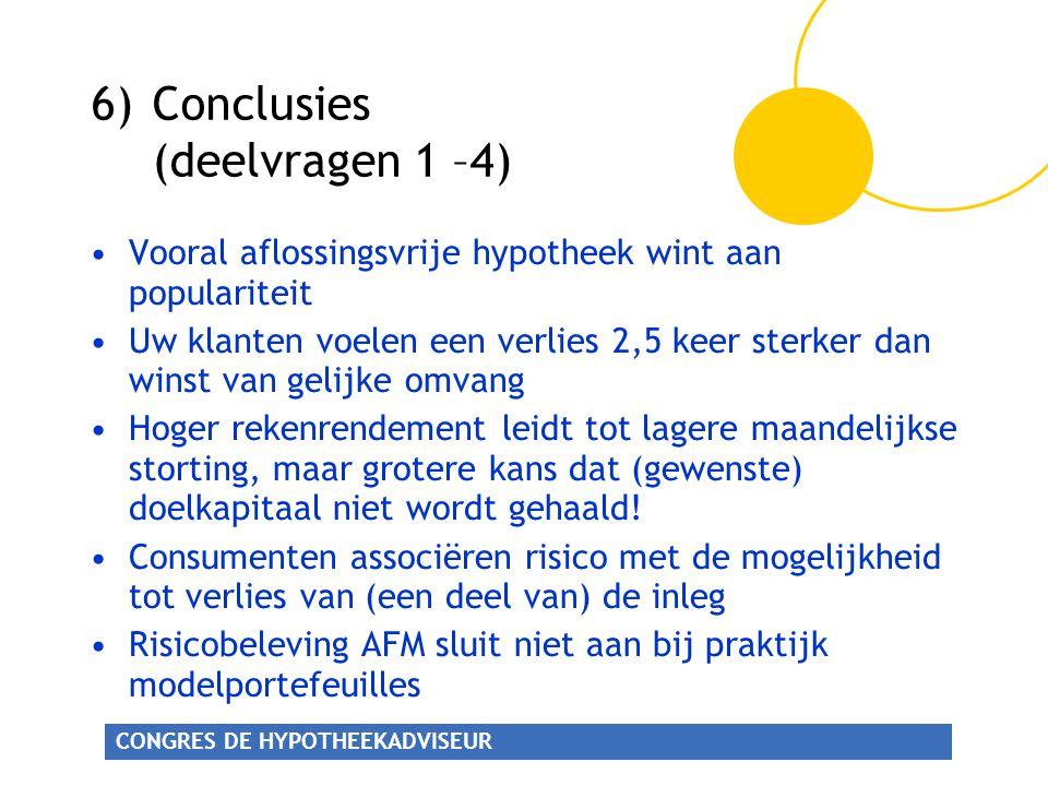 6) Conclusies (deelvragen 1 –4)