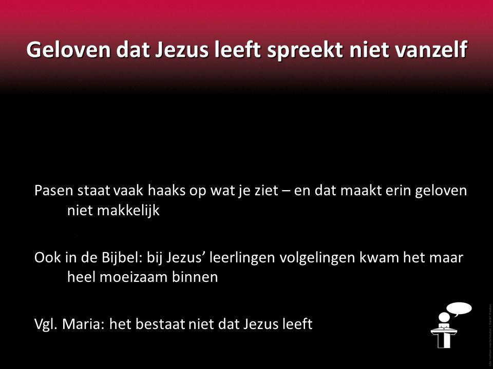 Geloven dat Jezus leeft spreekt niet vanzelf