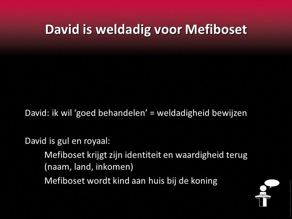 David is weldadig voor Mefiboset