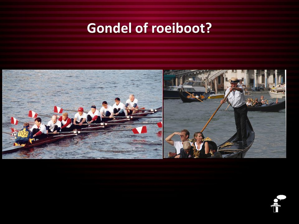 Gondel of roeiboot