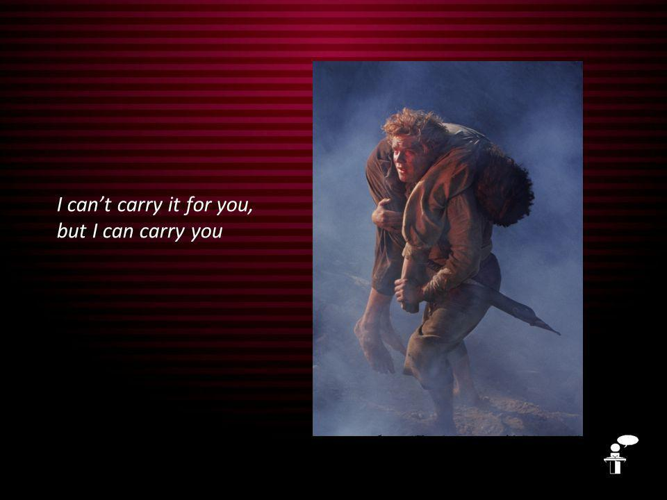 I can't carry it for you, but I can carry you